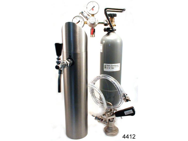 1 ltg. Zapfanlage mit Schanksäule und Co2 Flasche.