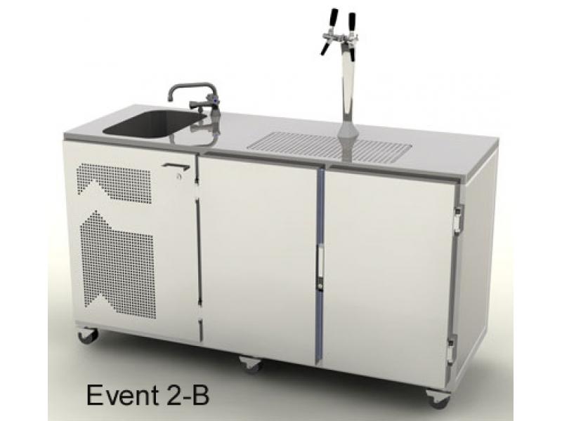 2 leitige mobile Event Kühl-Theke 1700 mm mit Becken