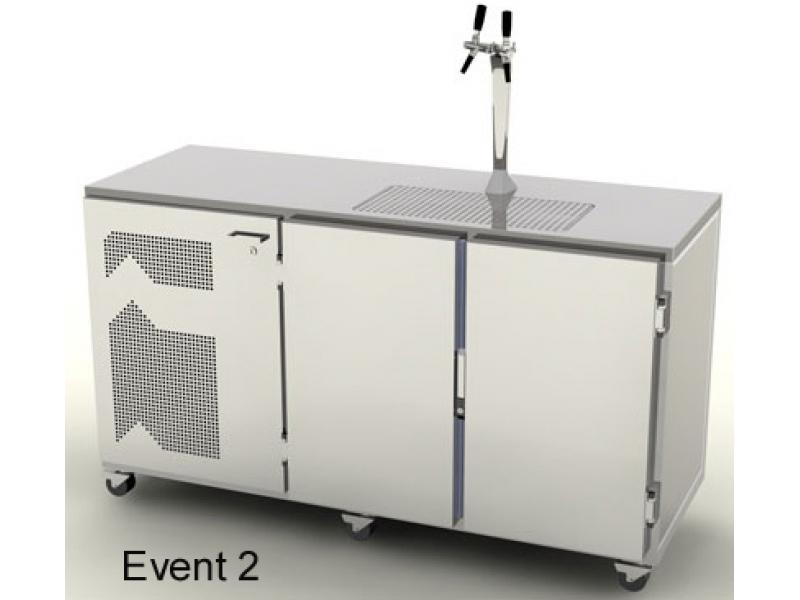 2 leitige mobile Event Kühl-Theke 1700 mm