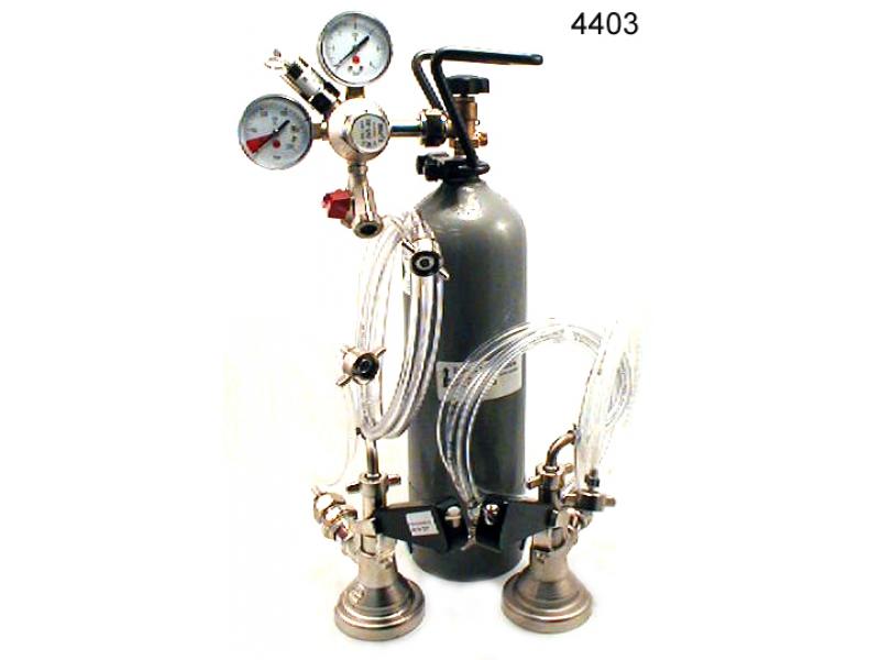 2 ltg. Zapfanlage mit Co2 Flasche.