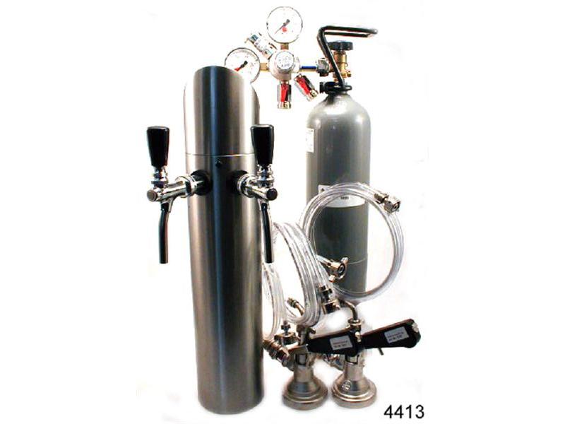 2 ltg. Zapfanlage mit Schanksäule und Co2 Flasche.