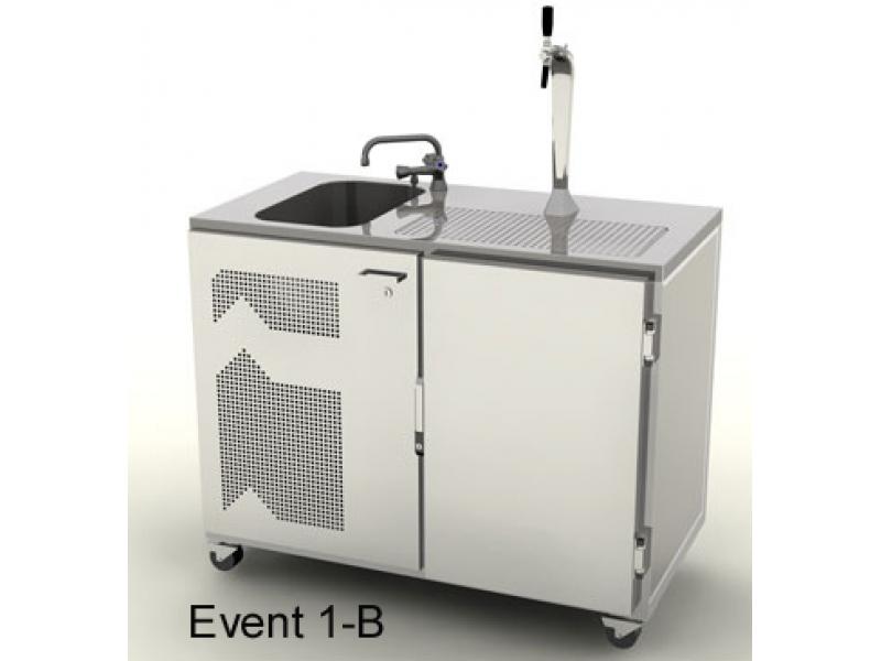 Mobile Event Kühl-Theke 1200 mm mit Becken
