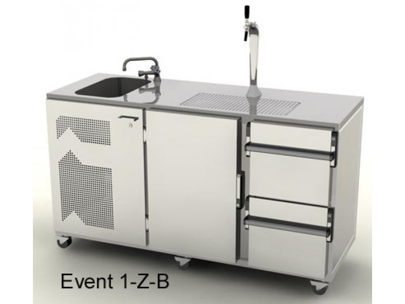 Mobile Event Kühl-Theke 1700 mm mit Becken