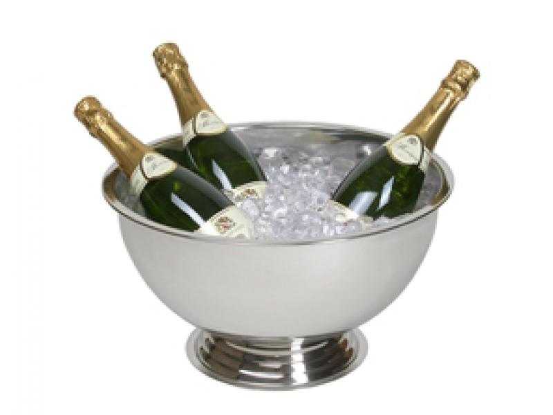 Sekt-Champagnerschale 1,2 kg, 39 cm Durchmesser.