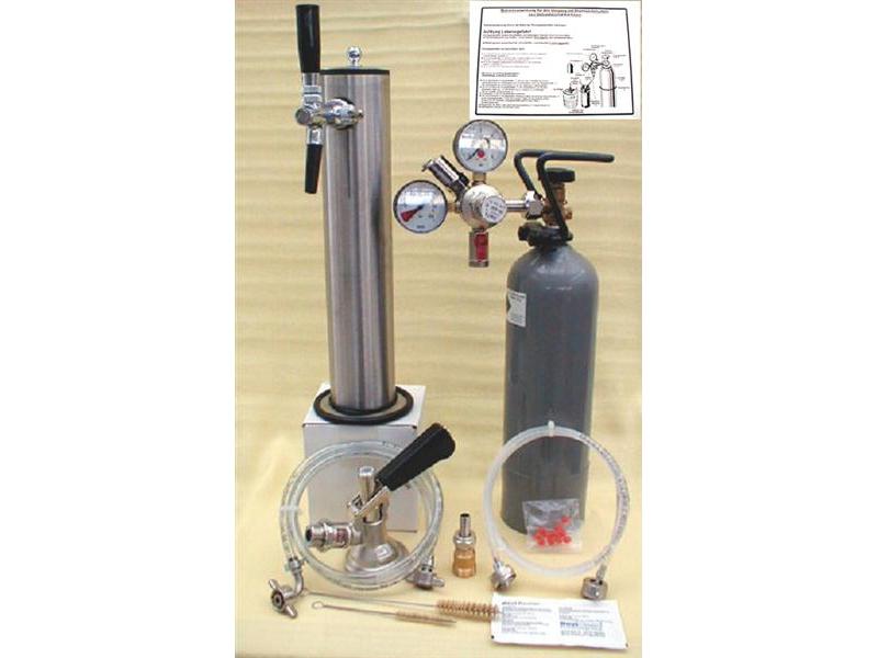 Zapfanlage für Bierbar 335 mit 2 kg. Co2 Flasche.