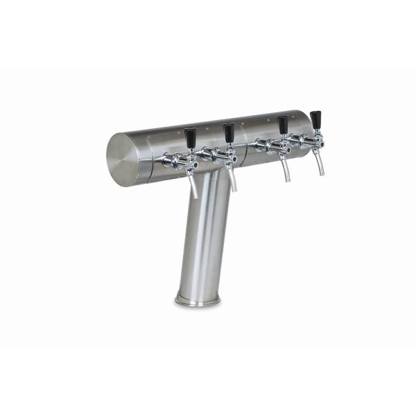 Schanksäule T-Form geneigt aus 102/129 mm Rohr 2, 3, oder 4 leitig in 5 Finishes