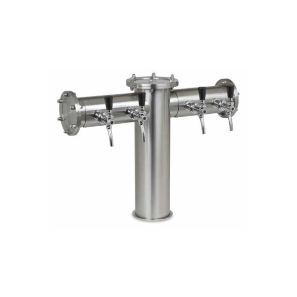 Schanksäule Doppelausleger Industrie Design 129/102mm Rohr 4-ltg 5-ltg 6-ltg
