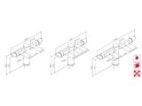 Schanksäule Doppelausleger 4, 5 oder 6 leitig aus 129/102 mm Rohr in 5 Finishes