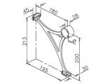 Fußlaufträger Anthrazit Design Fusslaufstützen für unsere 38,1 mm Rohre