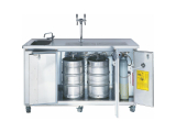 Mobile Biertheke Kühltheke Ausschanktheke Getränketheke Edelstahl Front - 1800mm