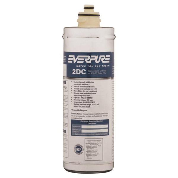 EVERPURE Wasserfilter DC speziell für Tafelwasseranlagen - keimtötender Wirkung