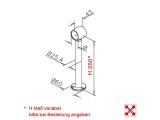 Fußlaufträger Chrom Design Fusslaufstützen 25,4mm für unsere 25,4, 38,1 oder 50,8 mm Rohre
