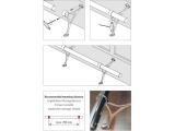 Fußlaufträger Chrom Design höhenverstellbar für unsere 38,1 oder 50,8 mm Rohre