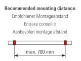 Fußlaufträger Anthrazit Design höhenverstellbar Fusslaufstützen für unsere 25,4 oder 38,1 mm Rohre