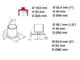Rohrbefestigungsflansch Chrom Design für unser 19,...