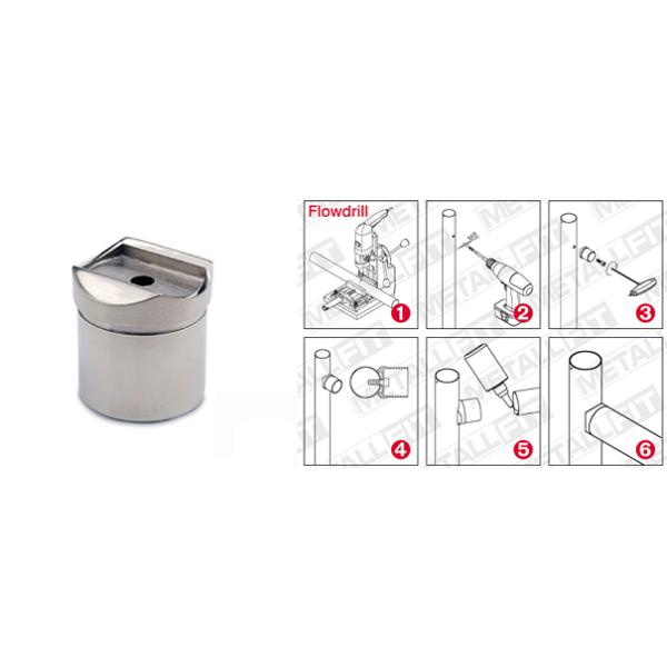 Rohradapter Chrom Design für Rohre von 19 mm bis 50,8 mm
