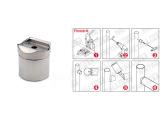 Rohradapter Chrom Design für Rohre von 19 mm bis...