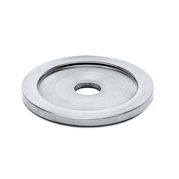 Rosette Chrom Design für 19, 25,4, 38,1 oder 50,8 mm Rohrhalter