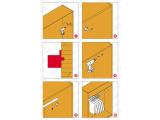 Wandflansch Chrom Design für 25,4 oder 38,1 mm Rohr