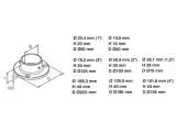 Wand- und Bodenflansch Chrom Design 19,0, 25,4, 38,1 oder...