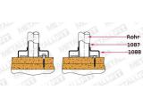 Abdeckkappe für Innenrohrflansch Chrom Design für 25,4, 38,1 oder 50,8 mm Rohr