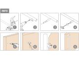 45 Grad Abstandhalter Edelstahl Design für 25,4 oder 38,1 mm Rohr