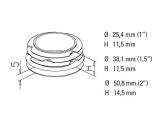 Pfropfen für 25,4, 38,1 oder 50,8 mm Rohre