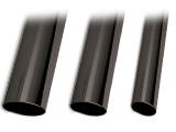 Anthrazit beschichtetes Edelstahl-Rohr 25,4 mm matt glänzend in Länge 3200 mm