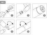 Rohrverbinder für Edelstahl Design 19, 25,4, 38,1...