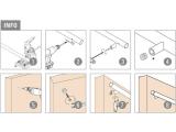 Abstandhalter flach Edelstahl Design für 19, 25,4 oder 38,1 mm Rohr