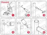 Rohradapter Messing Design für Rohre von 19 mm bis 50,8 mm