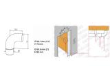 Endbogen Edelstahl Design für 38,1 mm Rohr
