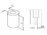 Pfropfen für 19, 25,4, 38,1 oder 50,8 mm Rohre