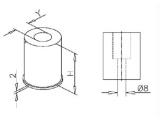 Endkappe für 19, 25,4, 38,1, 50,8 mm Rohre