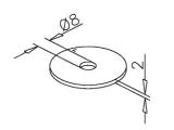 Unterlegscheibe für 25,4, 38,1 oder 50,8 mm Rohre