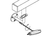 Handlaufstütze Chrom Design flach