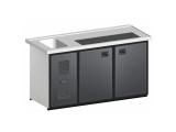 Biertheke Kühltheke MaxiMax 1600mm mit Anthrazit oder Edelstahl Front