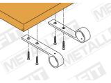 Handlaufstütze Edelstahl Design 25,4 oder 38,1 mm
