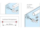Handlaufstütze Edelstahl Design flach für Glasmontage