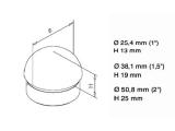 Endkappe rund Messing Design für 25,4, 38,1 oder...