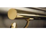 Endkappe gewölbt Messing Design für 19, 25,4, 38,1 oder 50,8 mm Rohr