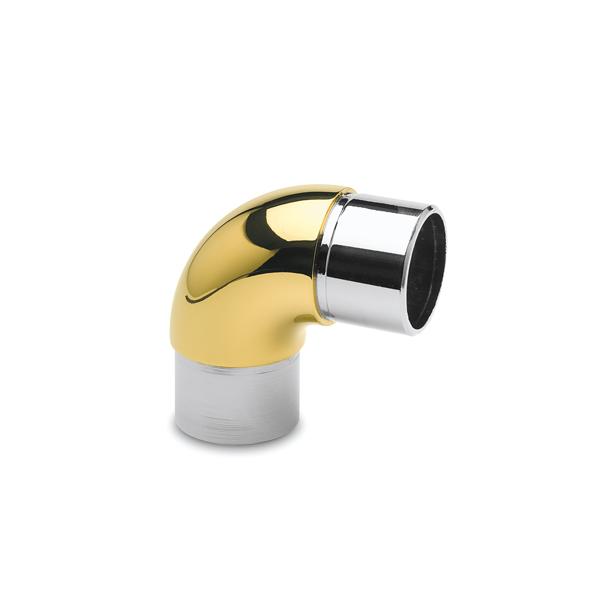 90 Grad Rohrverbinder rund Messing Design für 25,4, 38,1 oder 50,8 mm Rohr