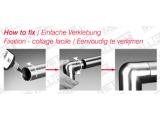 90 Grad Rohrverbinder rund Messing Design für 25,4,...