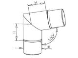 80 Grad Rohrverbinder Messing Design für 25,4 oder...
