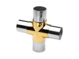 Kreuz- Rohrverbinder Messing Design für 25,4 oder 38,1 mm Rohr