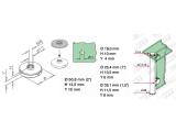 Zier- Abschlussscheibe Messing Design für 19, 25,4,...