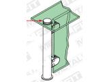 Zier- Abschlussscheibe Messing Design für 19, 25,4, 38,1 oder 50,8 mm Rohr