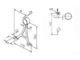 Fußlaufträger Messing Design...