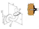 Handlaufstütze Messing Design Handlaufhalter 38,1 oder 50,8 mm