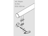 Handlaufstütze Messing Design flach
